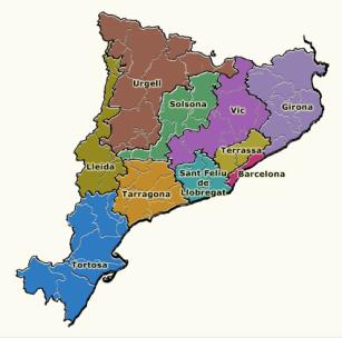 Diòcesis amb seu a Catalunya